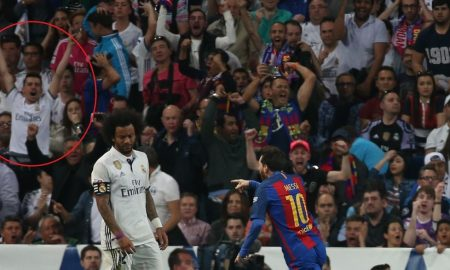 Torcedor do Real Madrid é flagrado comemorando gol decisivo de Messi